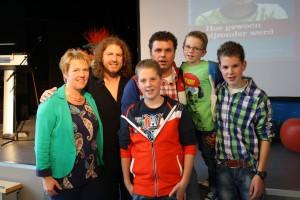 Gert van der Vijver met ons gezin tijdens de boekpresentatie